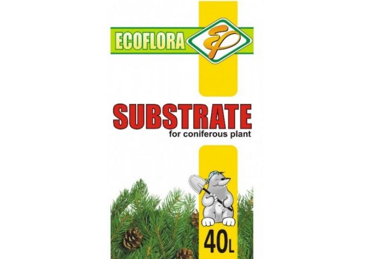 Субстрат Экофлора для хвойных растений 40 л.