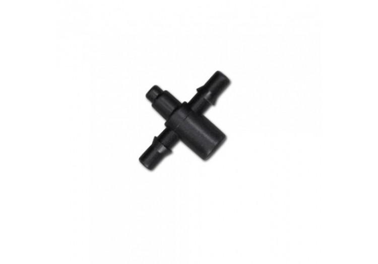 Двойник Bradas адаптер для эмиттеров и капельниц под трубку 4мм. - 014831