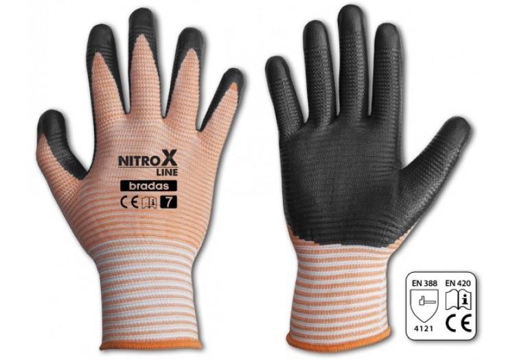 Перчатки садовые Bradas RWNL8 NITROX LINE нитрил, размер 8