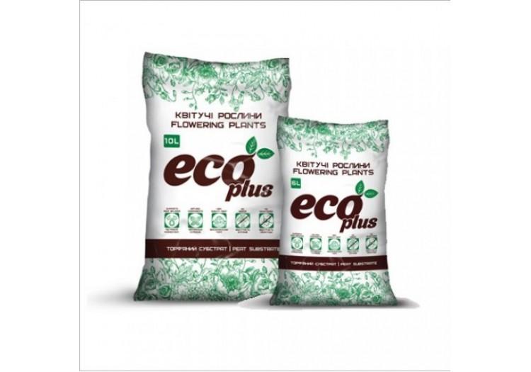 Торфяной субстрат ECO PLUS для цветущих 10 л