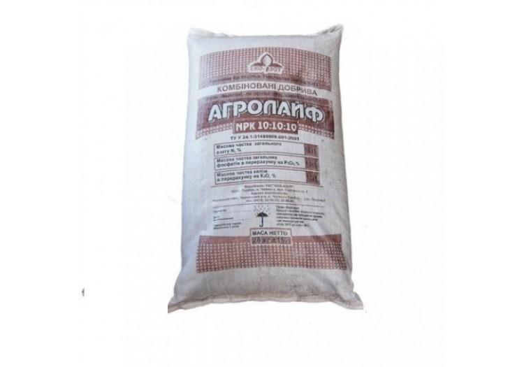Удобрение Агролайф N:P:K 10:10:10, 25 кг органоминеральное на основе компоста - 20741