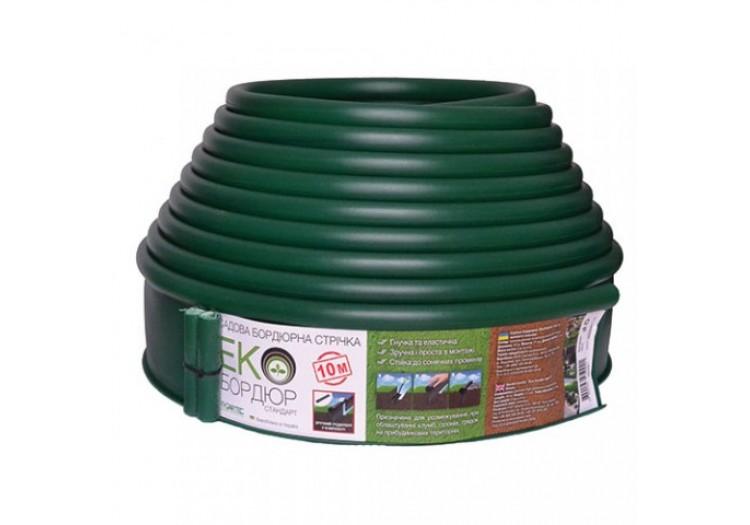 Бордюр садовый прямой Экобордюр Стандарт 10м х 11см зеленый - 49412