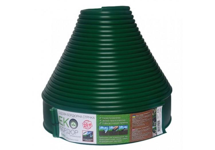 Бордюр садовый прямой Экобордюр Оптимальный 20м х 10,3см зеленый - 49414
