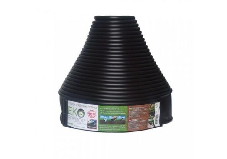 Бордюр садовый прямой Экобордюр Оптимальный 20м х 10,3см черный - 49416