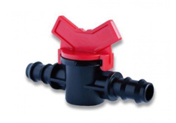Кран проходной для садовой трубки SantehPlast 16 мм.